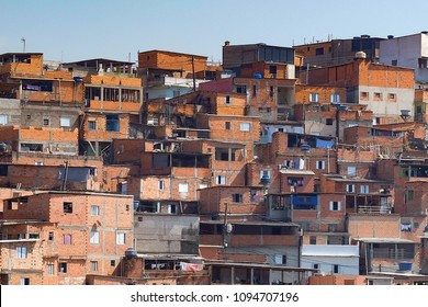 Houses in Paraisopolis, one of the slums (favela) of Sao Paulo.