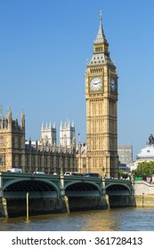 The Houses of Parliament and Big Ben, London, UK