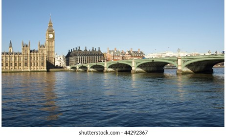 Houses of Parliament with Big Ben, Westminster Palace, London, UK - (16:9 ratio)