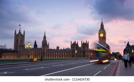 Houses of Parliament and the famous Big Ben in Westminster, in London, UK