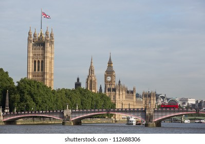 Houses of Parliament with lambeth bridge