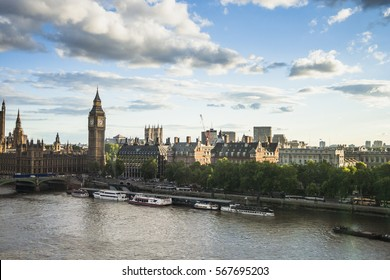 The Houses of Parliament in London, England.