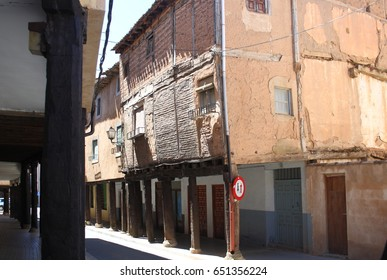 houses, Popular architecture in the towns of Berlanga de Duero, Soria, Spain,