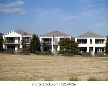 Houses in a row in a housing estate