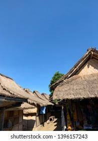 houses at sade village, lombok