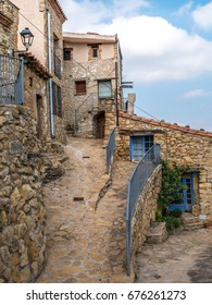 Houses in the small village El Ballestar in the Tinenca de Benifassa area of Castellon Spain.