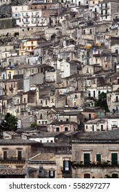 Houses in the Southern Sicilian city of Noto, Italy.
