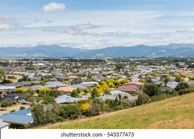 houses in suburb of Blenheim town, New Zealand