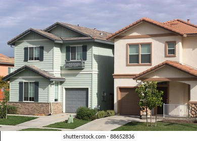 Houses in suburban neighborhood