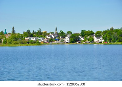 Houses in Timmins, Ontario across Gillies Lake