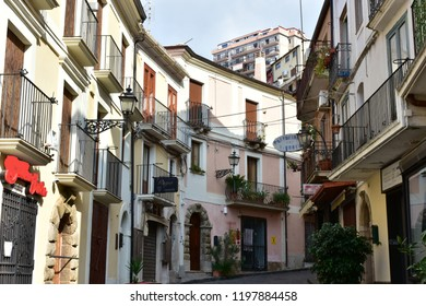 houses in town Pizzo in Calabria in Italy