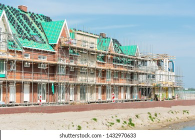 Houses under construction in The Netherlands.