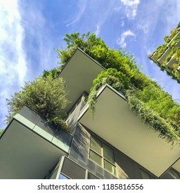Houses with vertical landscaping in Milan, Italy