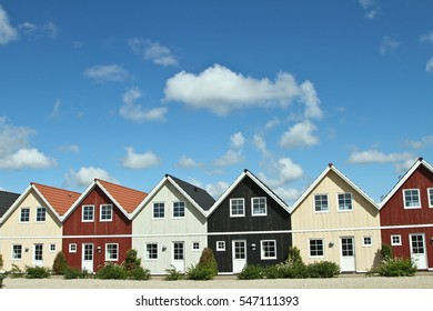 Houses in the village of Ho in Denmark