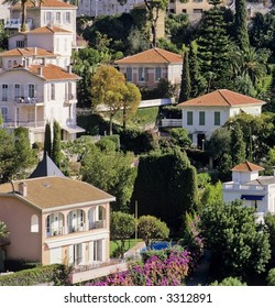 houses villefranche sur mer alpes maritime french riviera cote d'azur provence france europe