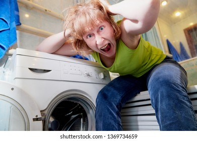 Woman Tired Of Laundry Images Stock Photos Vectors Shutterstock