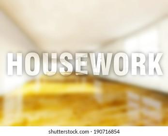 Housework interior creative conceptual illustration