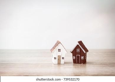 Housing company good teamwork, housing business concept