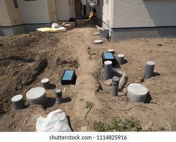 Housing construction work