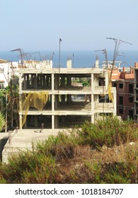 Housing crises, building ruins, Costa de la Luz, Spain