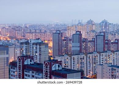 Housing estate. Kiev, Ukraine. Kyiv, Ukraine