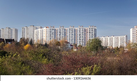 A housing estate from a large construction slab