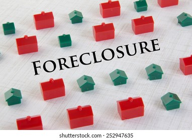 Housing market collapse and foreclosure concept