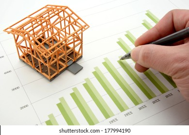Housing market concept and graph