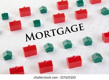 Housing market mortgage concept