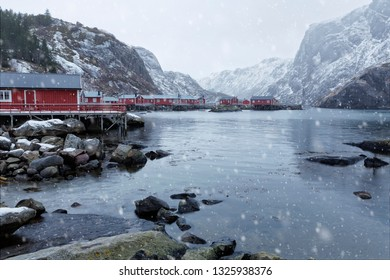 Housing on the Lofoten islands, Norway, Europe