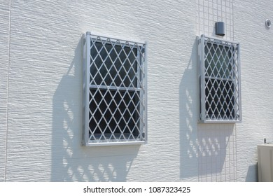Housing outer wall building material lattice window and siding