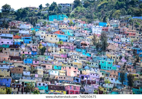 Housing stacked Port-Au-Prince, Haiti