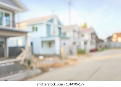 Housing subdivision or housing development blur background. Also call tract housing consist of house in large tract of land that divided into smaller. Business process by developer and builder.