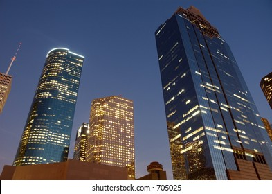 Houston downtown skyscrapers