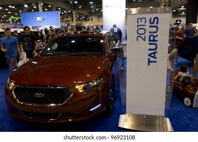 HOUSTON - JANUARY 28: The Ford Taurus at the Houston International Auto Show on January 28, 2012 in Houston, Texas.
