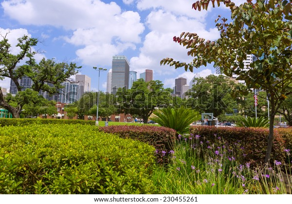 Houston skyline cityscape in Texas US USA