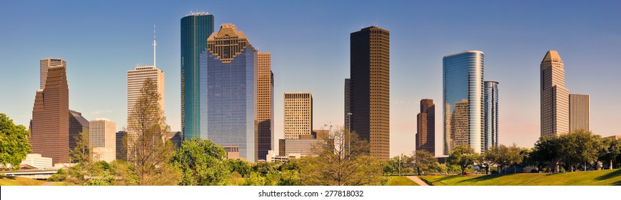 Houston Skyline, Panoramic
