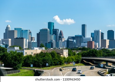 Houston skyline view from the south side of the city.