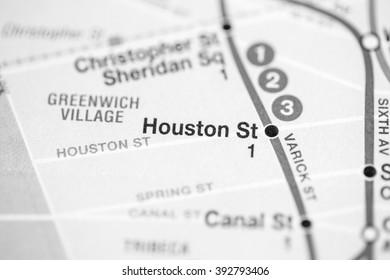 Houston St. Broadway/7 Avenue Line. NYC. USA