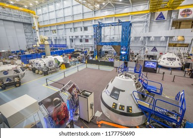 HOUSTON, TEXAS - August, 2018: inside Space training center in The Lyndon B. Johnson Space Center (JSC) in Houston, Texas.