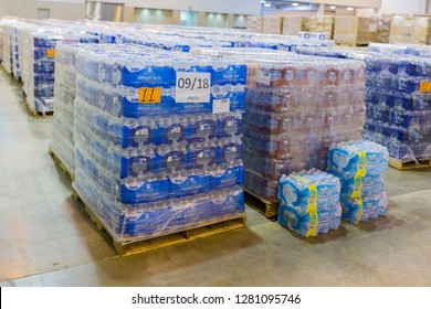 Houston, Texas - August 30, 2017: Local charities and food pantries provide food, medicine and basic supplies to individuals and families in need during national emergencies or government shutdown