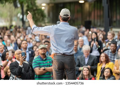 Houston, Texas - March 30, 2019: Democratic candidate Beto O'Rourke kicks off presidential campaign in Houston