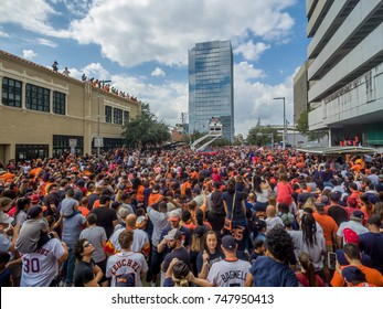 HOUSTON, TEXAS - NOV 3rd 2017 - World Series Champions Houston Astros celebrate their win over the LA Dodgers in a homecoming parade in downtown Houston.