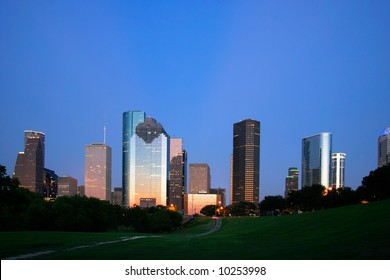 Houston, Texas Skyline at Dusk