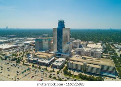 HOUSTON, TEXAS, USA - AUGUST 1, 2018: Aerial photo of the Hermann Gateway Memorial City Building Houston Texas