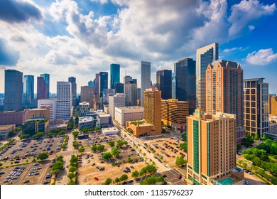 Houston, Texas, USA downtown city skyline.
