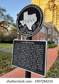 Houston, Texas - USA - February 1, 2021: Clayton House, genealogical research library