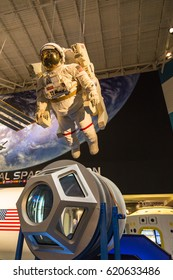 HOUSTON, TEXAS, USA - JULY 9, 2013: The exhibition in Space Center Houston.
