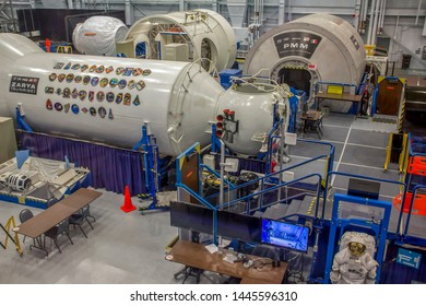 Houston, Texas/United States; June 6th 2015: Space shuttle factory at Space Museum in Space Center Houston, official visitor center of Lyndon B. Johnson Space Center (NASA)