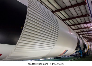Houston, Texas/United States; June 6th 2015: Space rocket at Space Museum in Space Center Houston, official visitor center of Lyndon B. Johnson Space Center (NASA)